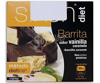 SIKEN Diet Barritas Vainilla - Caramelo, 5 unidades x 36 Gramos