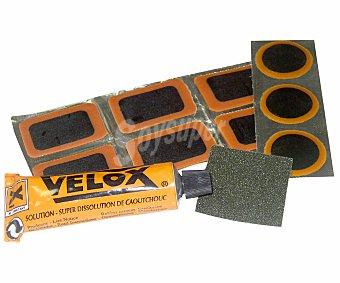 AUCHAN Lote de 9 parches + lija, para reparar cualquier tipo de cámara de aire 1 Unidad