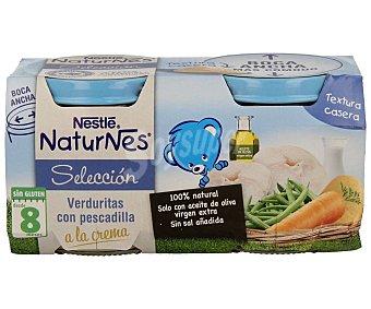 Naturnes Nestlé Tarrito de verduras con pescadilla a la crema, a partir de 8 meses Selección 2 x 200 g