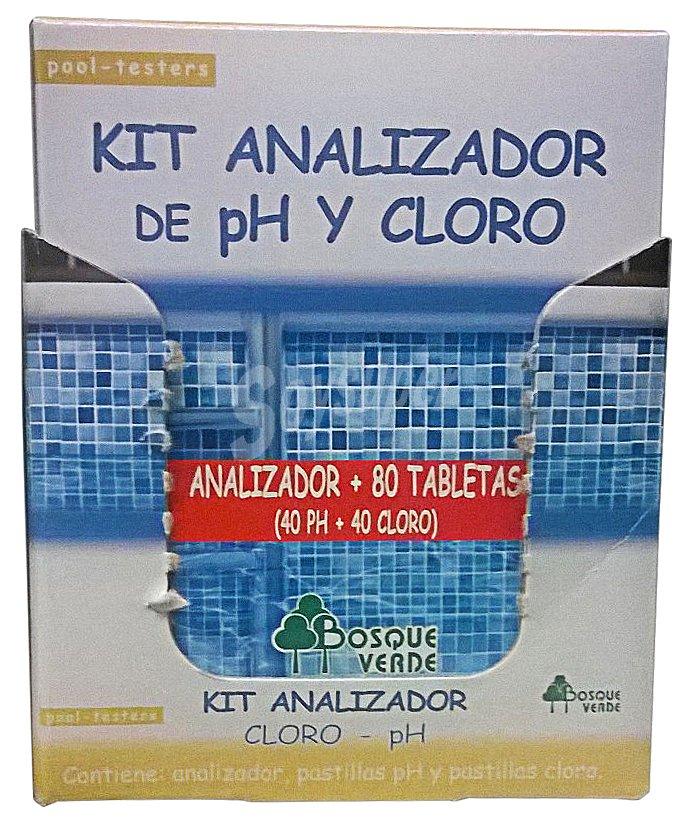 Bosque verde piscina kit analizador cloro ph recambio 80 for Invernador piscinas mercadona