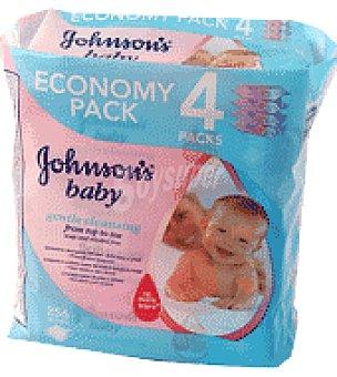 Johnson's Baby Toallitas bebé recambio Pack de 4x64 ud