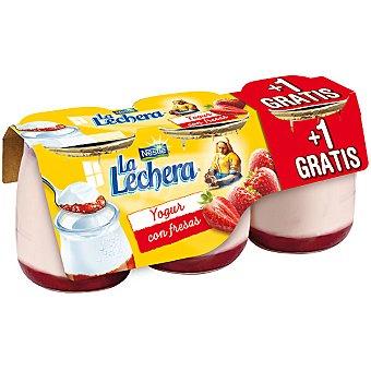 La Lechera Nestlé Yogur con fresas + 1 gratis Pack 2 unidades 125 g