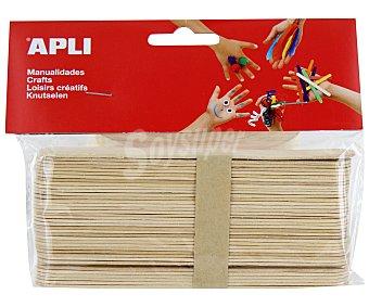 APLI Bolsa de 50 palos de helado de color madera 1 unidad