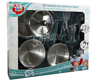 Rik&Rok Auchan Siete Utensilios Metálicos de Cocina, Motiva el Juego Simbólico 1 Unidad
