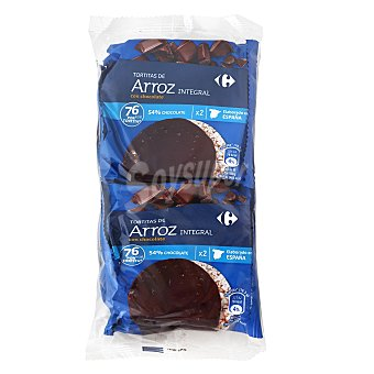Carrefour Tortitas de arroz integrales con chocolate Carrefour 130 g