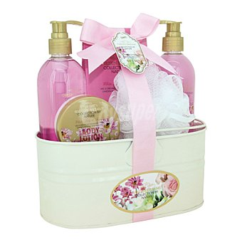 Garden Dreams Set de baño cubo metalico de Freesias 1 ud
