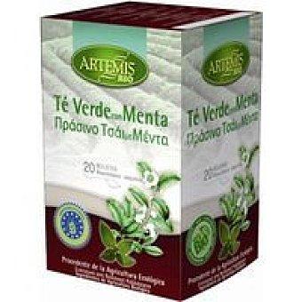 Artemis Bio Té verde con menta Caja 40 g