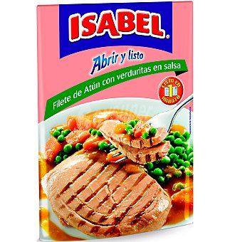 Isabel Filetes de atún con verduritas en salsa Envase de 70 g