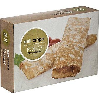 DELI CREPE Crepes preparados de pollo y verdura 2 unidades estuche 190 g 2 unidades