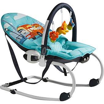 INNOVACIONES MS 1106 Hamaca para bebé con vibración y dibujo de autobús en color azul