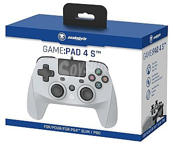 SNAKEBYTE Mando con cable para Ps4 modelo Game Pad 4 S color gris, snakebyte.