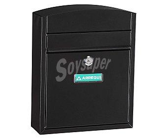 ARREGUI Buzón Compacto, Fabricado en Acero Color Negro, Medidas: 285x240x95 Milímetros, Medidas Boca: 205x24 Milímetros 1 Unidad