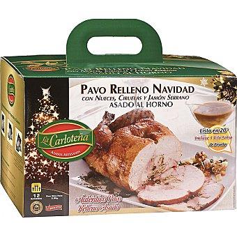 La Carloteña Pavo asado al horno relleno de Navidad con nueces, ciruelas y jamón serrano 12 raciones pieza 2,8 g 2,8 g