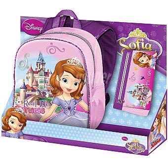 DISNEY Princesa Sofía Pack mochila + portatodo plano 1 unidad