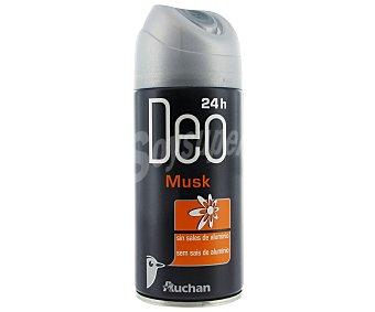 Auchan Desodorante Spray Musk, sin sales de aluminio 200 Mililitros