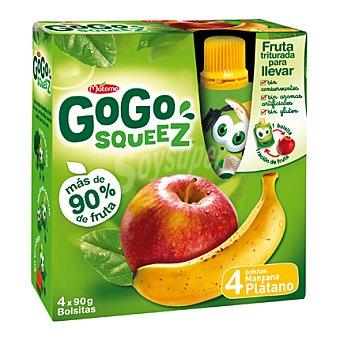 Gogo Squeez Manzana y plátano triturados 4 ud