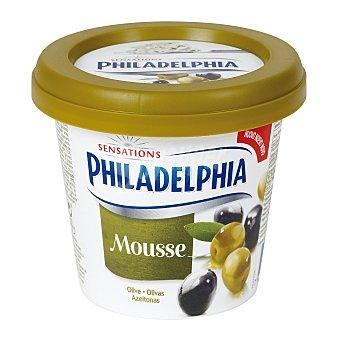 Philadelphia Mousse de queso y olivas negras y verdes para untar 140 gramos