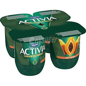 Activia Danone Yogur con sabor a papaya Pack 4 unidades 125 g