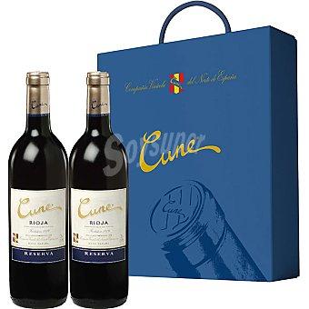 CUNE vino tinto reserva D.O. Rioja Estuche 2 botellas 75 cl