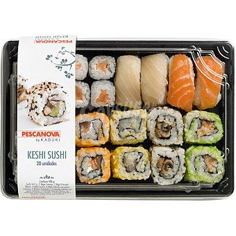 PESCANOVA Keshi sushi futoma y nigiri bandeja de 20 unidades