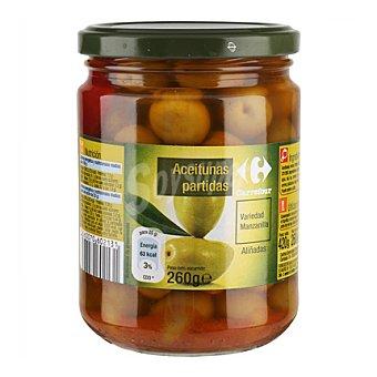 Carrefour Aceitunas partidas aliñadas 260 g