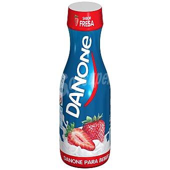 DANONE Yogur para beber sabor fresa botella 550 g