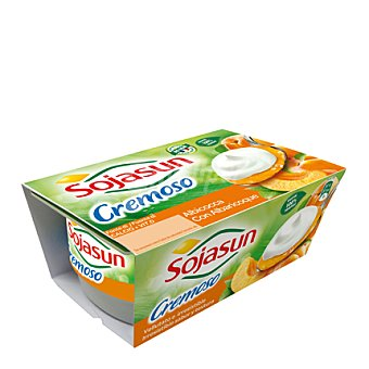 Sojasun Yogur cremoso bicapa albaricoque Pack 2x100 g