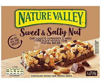 Nature Valley Barritas de frutos secos con chocolate negro 4 uds. x 30 g