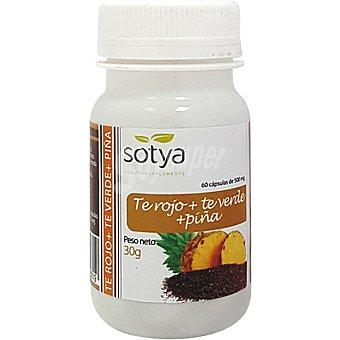 Sotya Té rojo, té verde y piña bote 60 comprimidos bote 60 comprimidos
