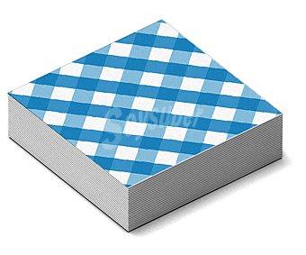 NV CORPORACION Servilletas de papel con cuadros azules y blancos, 33x33 centímetros 20 unidades