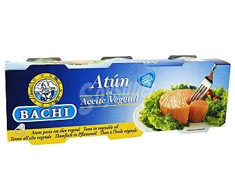 BACHI Atún en Aceite Vegetal Pack 3 Unidades de 52 Gramos