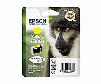 Epson Cartucho Amarillo T0894 - Compatible con Impresoras: stylus S / 20 / 21 SX / 100 / 105 / 110 / 115 / 205 / 215 / 218 / 405 / 415 office BX / 300F