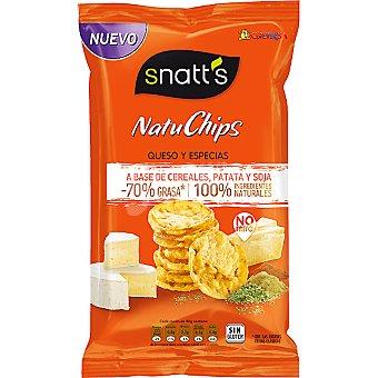 Snatt's Grefusa Natu Chips de Queso y Especias 85 g