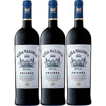 VIÑA VALORIA Vino tinto crianza doca Rioja Estuche 3 botellas 75 cl