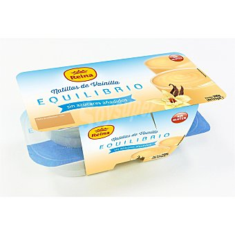 Postres Reina Natillas de vainilla si azúcares añadidos Pack 4x125 g