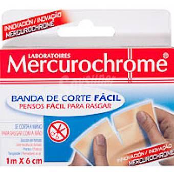 Mercurochrome Banda Corte Fácil 1mx6cm Pack 1 unid