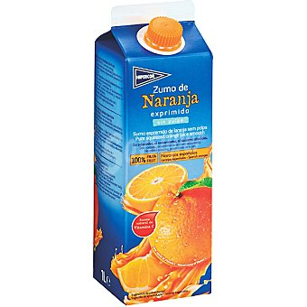 Hipercor Zumo de naranja sin pulpa 100% fruta Envase 1 l