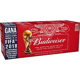 Budweiser Cerveza rubia estadounidense pack 10 latas 33 cl pack 10 latas 33 cl