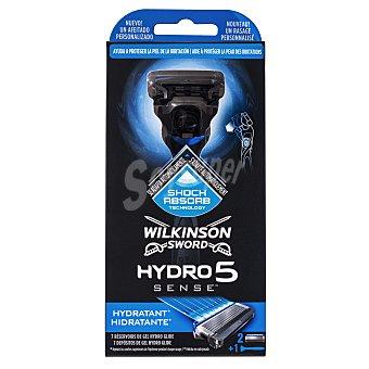 Wilkinson Maquinilla afeitar cargador hydro sense 5 hojas (incluye 1 recambio) 1 ud