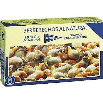 Hipercor berberechos de las rías gallegas al natural 40-50 piezas lata 65 g neto escurrido