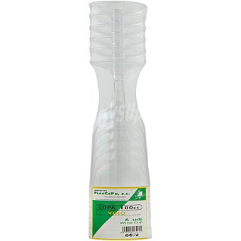 PLASCEPU Copa de vino plastico Bolsa 6 unidades