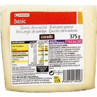 Eroski Queso curado mezcla 375 g