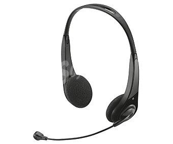 TRUST Auriculares PC tipo diadema, con micrófono, conexión con Jack 3,5mm insonic