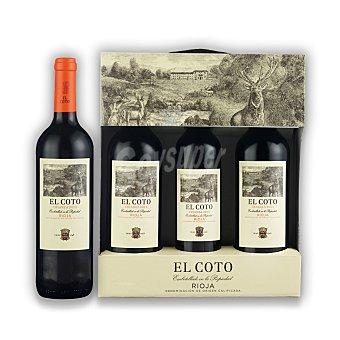 """El Coto Estuche de vino D.O. Ca. """"rioja"""" tinto crianza + regalo vino tinto crianza 50 cl. Pack 2x75 cl"""