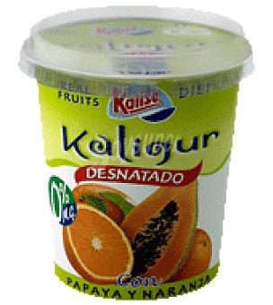 Kalise Yogur Kaligur 0% con papaya naranja 400 g