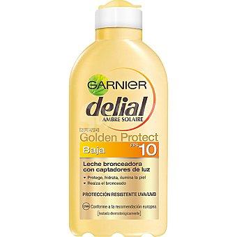 Delial Garnier Leche bronceadora con captadores de luz FP-10 Golden Protect Frasco 200 ml