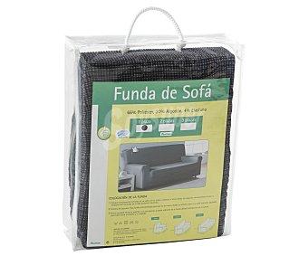 Productos Económicos Alcampo Funda elástica para sofá de 1 plaza, color gris 1 Unidad