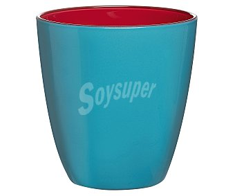LUMINARC Vaso de cristal con 25 cl de capacidad, diseño liso bicolor azul-rojo con acabado mate modelo Spring Break 1 unidad
