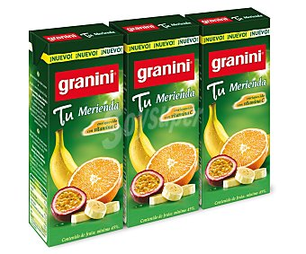 Granini Nectar de Fruta Tu Merienda 3 Unidades de 20 Centilitros