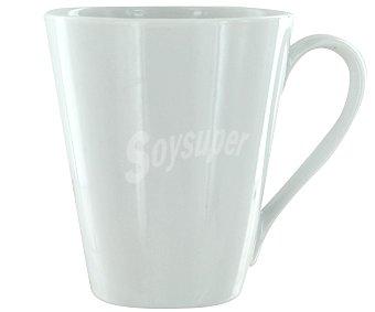 AUCHAN Mug o taza alta con asa, con capacidad de 29 centilitros y fabricada en porcelana blanca 1 Unidad